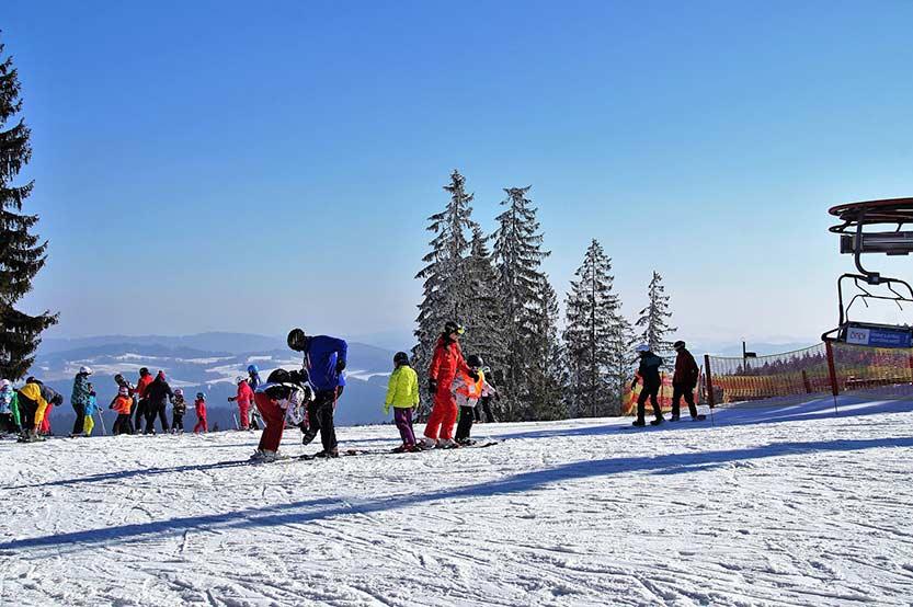 Skigebiet im Böhmerwald