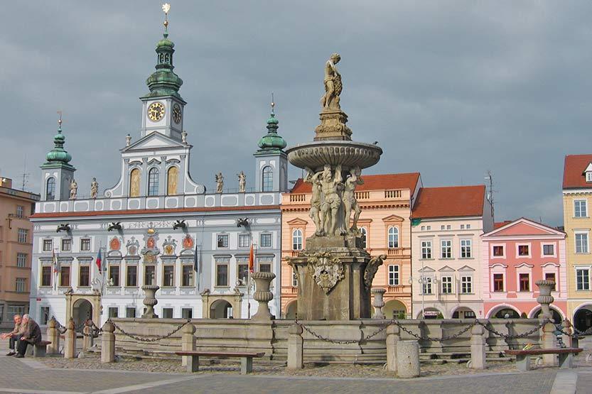 Marktplatz in Ĉeské Budejovice