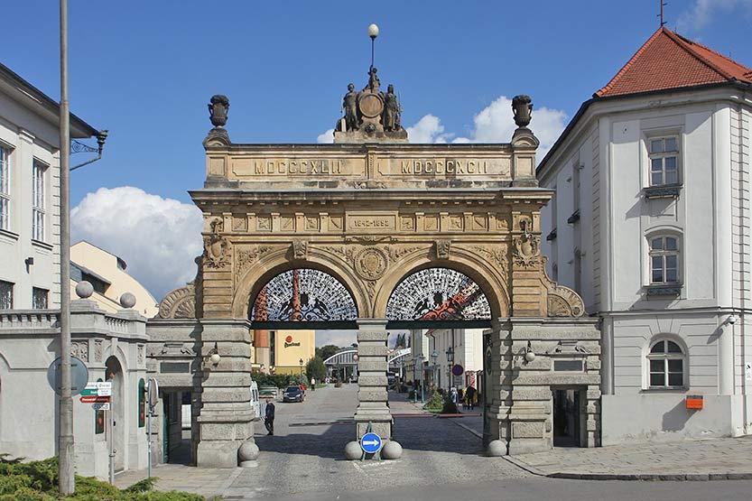 Besichtigung der Brauerei Pilsen - Eingang