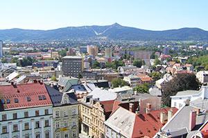 Panoramablick über Liberec